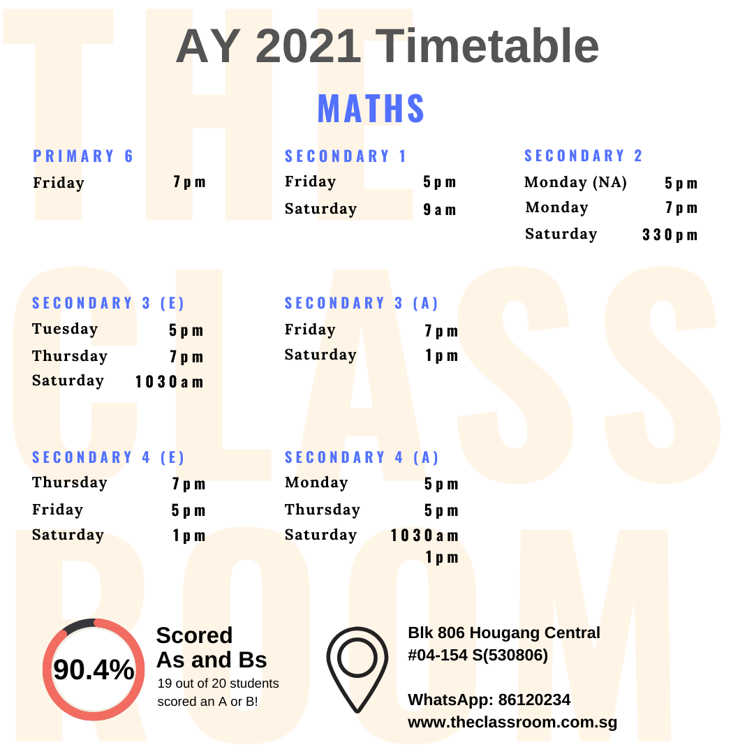 chemistry and physics timetable
